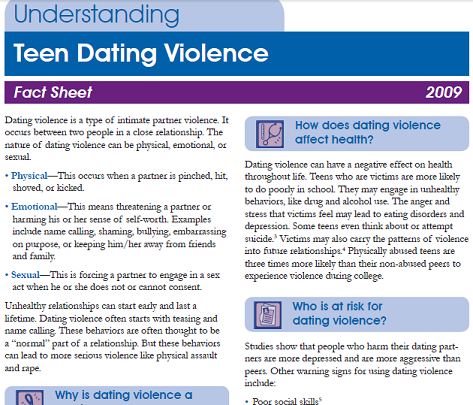 facts about dating abuse Dating abuse statistics if you thought violence wasn't a problem for teen and young-adult romantic relationships, the following data might change your mind.
