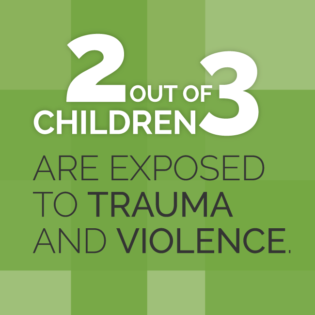 2 Out of 3 Children Are Exposed to Trauma